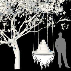 Preston Bailey wedding cake table design