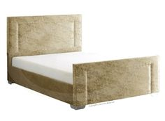 Tulip Frame Bed and memory mattress (Gold).