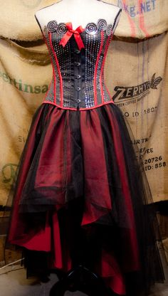 I dont know how I feel about this, it's very Tim Burton.. <3 Prom Burlesque Corset Costume Wedding dress with by olgaitaly, $275.00