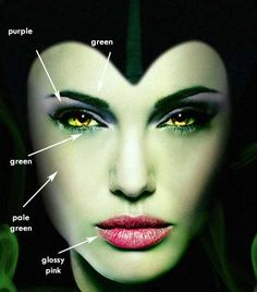 A makeup and costume guide for Maleficent: http://costumeplaybook.com/movies/586-maleficent-jolie-movie-and-disney-animation/