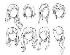 Resultado de imagem para desenho manga cabelo
