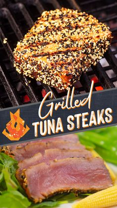 These succulent slabs of seafood will take your grilling game to a whole new level. Next time you fire up the grill skip the beef and cook up tuna steaks! #tuna #grilledtuna #tuna #grilling #grilledfish #wholefish #biggreenegg #fish #tunasteaks