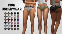 Pink Underwear• 30 colors • custom thumbnail Download
