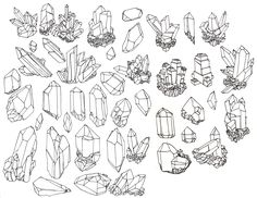 vintage crystal illustration - Google Search