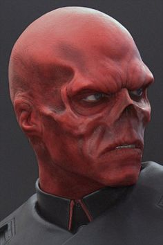 Mr Damon's goal is to look like Marvel character Red Skull, portrayed on screen by Hugo Weaving as Red Skull.