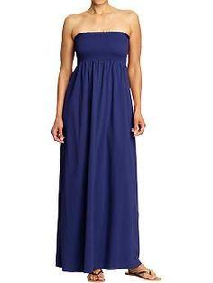 Women's Smocked Maxi Tube Dress (Bright Nite). Old Navy. $32.94