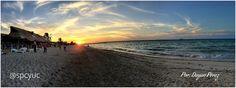 Hermosa #PuestaDeSol en #Puerto #Progreso #Yucatán