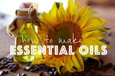 make oils from your plant that you already have! no investment needed!