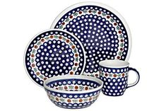 Polish Pottery Nature 16 Piece Dinner Set >>> Huge discounts available now! : Bakeware