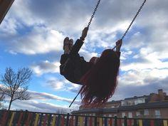 Día 66: Salir con mi sobrina al parque y sentirte más enana que ella. Las carcajadas de mi sobri al verme en el columpio y en el tobogán no tienen precio #fotopordia by dawnere