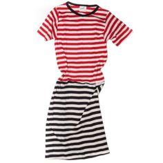 Edith A. Miller combo stripe mini dress. Perfect.