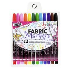 Tulip Fabric Markers Multicoloured