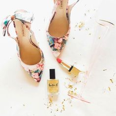 floral bow heels | bhldn
