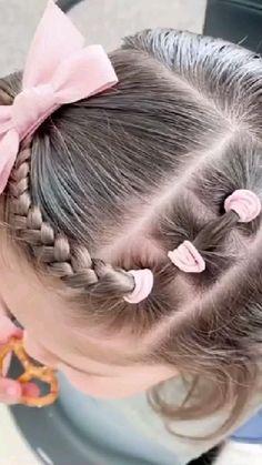 Hair Dos For Kids, Toddler Hair Dos, Easy Toddler Hairstyles, Cute Hairstyles For Toddlers, Easy Little Girl Hairstyles, Girls Hairdos, Cute Girls Hairstyles, Picture Day Hairstyles, Hairdo For Long Hair