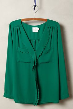 Scalloped Remi Blouse - anthropologie.com
