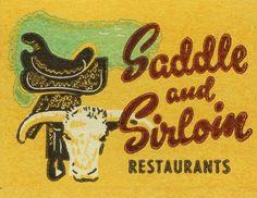 Matchbook Art, Saddle and Sirloin Restaurants