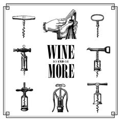 Free vintage clip art images: Vintage corkscrew wine openers