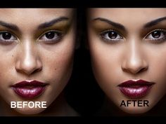 Dodge & Burn Skin Retouching - YouTube