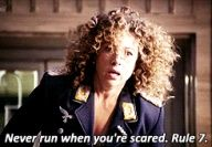 Never run when you're scared.
