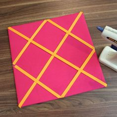 Glue on the Ribbons and Buttons, DIY Grid Bulletin Board System