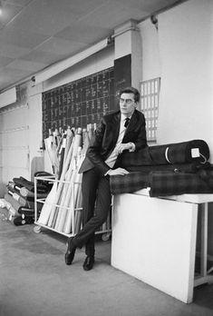 * Yves Saint Laurent 1962  photo Mark Shaw