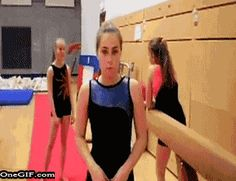 17 Gymnasts Who Totally Nailed It... #15, I'm dying! I shouldn't laugh... But it's so funny!