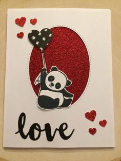 Stampin' Up! Party Pandas Valentines Day Card