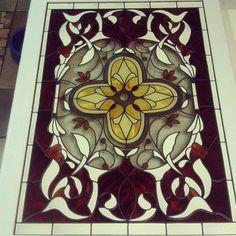 Faux Stained Glass Art using Jurgen Glass Paints. JurgenIndustries.com