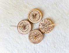 Small Mandala  Incense Holder set of 4 - Wooden Joga Pyrography Gift - Woodburning Incense Stand - Eco Friendly