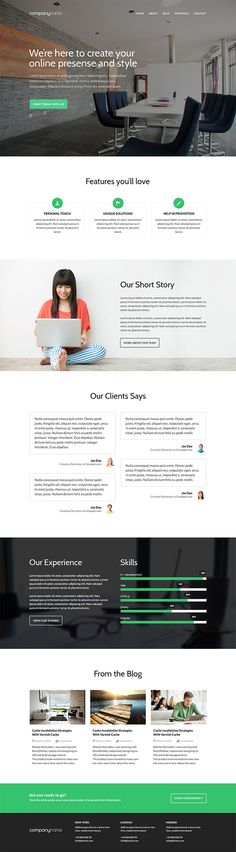 Free Business PSD screenshot