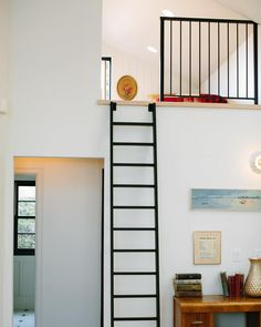 """@forgeandbow: """"The high ceilings + loft in the Buckeye Residence adds visual volume, plus additional square…"""" High Ceilings, Ladders, Divider, Loft, Bed, Furniture, Home Decor, Tall Ceilings, Stairs"""