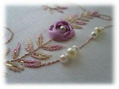 Pearls and ribbonwork