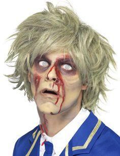 Zombie Kurzhaar-Perücke blond aus unserer Kategorie Halloween Perücken. Wer möchte sich nicht gerne einmal in einen verwahrlosten, schlurfenden Zombie verwandeln? Mit dieser genialen Halloween-Perücke ergänzen Sie jedes Zombie-Kostüm perfekt!