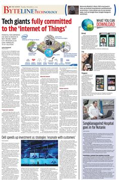 Tech giants fully committed to the 'Internet of Things' -- The Nation's Byteline and Technology, November 11, 2014 #TheNation