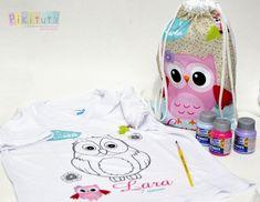 Novidade! Kit camiseta para colorir