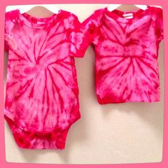 Tie Dye baby onesies and baby shirts!