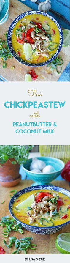 Thai Chickpea Stew with Peanut butter & coconut milk