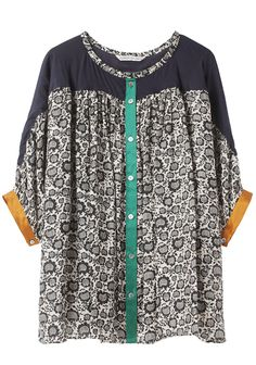 TSUMORI CHISATO /  SUNFLOWER CAT PRINT TOP