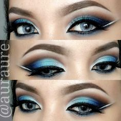 Ombre blue eyeshadow @auraure