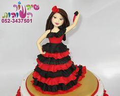 flamenko dancer cake by cakes-mania   עוגת רקדנית פלמנקו מאת שיגעון העוגות