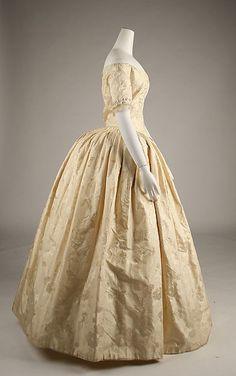 Evening ensemble Date: ca. 1845 Culture: British Medium: silk