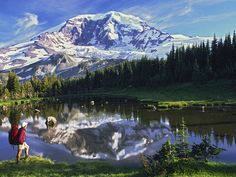 Picture of a hiker on the Wonderland Trail in Mount Rainier National Park