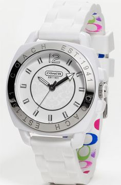 COACH 'Boyfriend' Rubber Strap Watch available at #Nordstrom