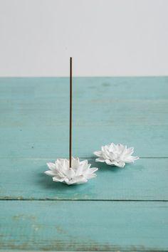 Lotus : Wall Decor / Ceramic Figurine / Incense Holder / Ceramic Lotus scrulpture