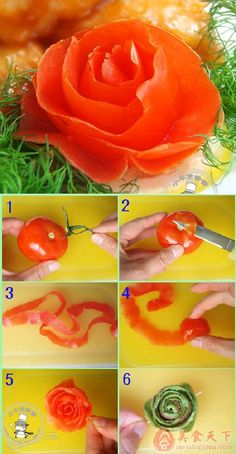 DIY Tomato Skin Rose