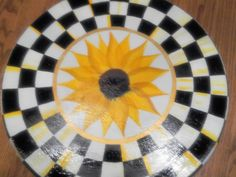 """Decorative 18"""" Oval Wooden Hand Painted Lazy Susan by krystasinthepointe on Etsy"""