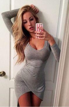 Sexy Bodycon Long Sleeve Dress