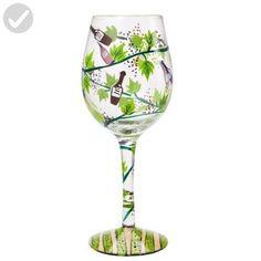 Lolita Wine Tasting Artisan Hand Painted Wine Glass - Bar equipment (*Amazon Partner-Link)