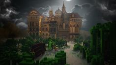Seeking out the best Minecraft maps? PCGamesN have all the bases covered Minecraft Villa, Map Minecraft, Minecraft Mansion, Minecraft Structures, Minecraft Houses Blueprints, How To Play Minecraft, Minecraft Buildings, Minecraft Ideas, Minecraft Stuff