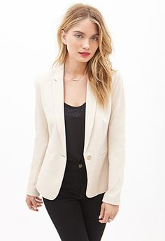 Single-Button Blazer: also available in olive $27.80
